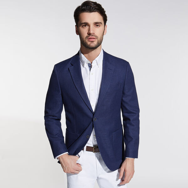 Jensen Jacket in Navy - Tugboat Blue