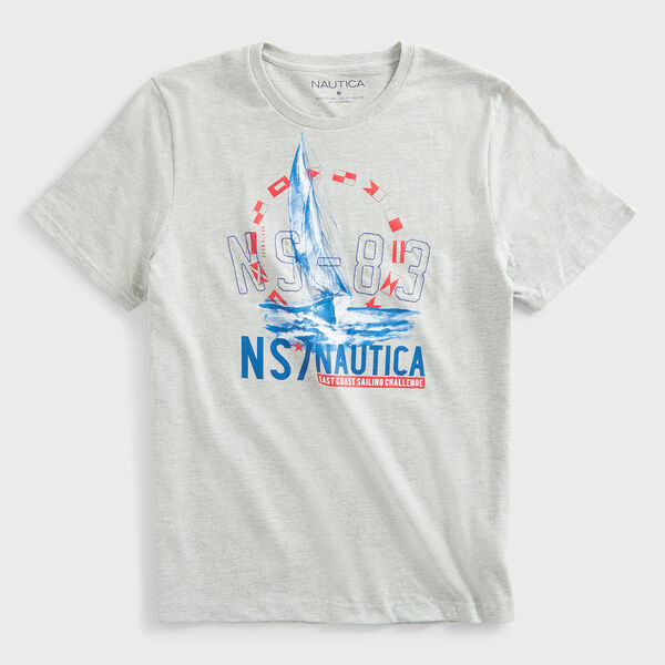 SAILBOAT NS-83 LOGO GRAPHIC T-SHIRT - Grey Heather