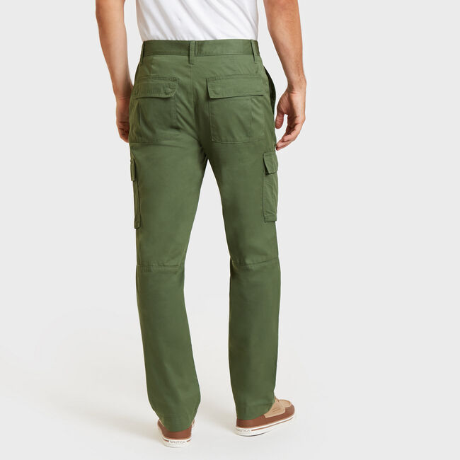 Classic Fit Cargo Utility Pants,Green Glow,large