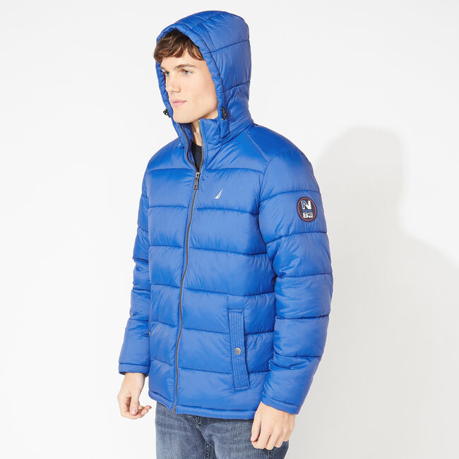 PUFFER JACKET WITH REMOVABLE HOOD,Star Sapphire,large