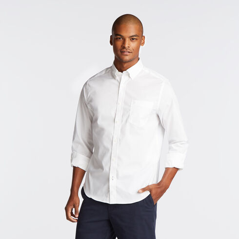 Long Sleeve Classic Fit Solid Wrinkle-Resistant Shirt - Bright White