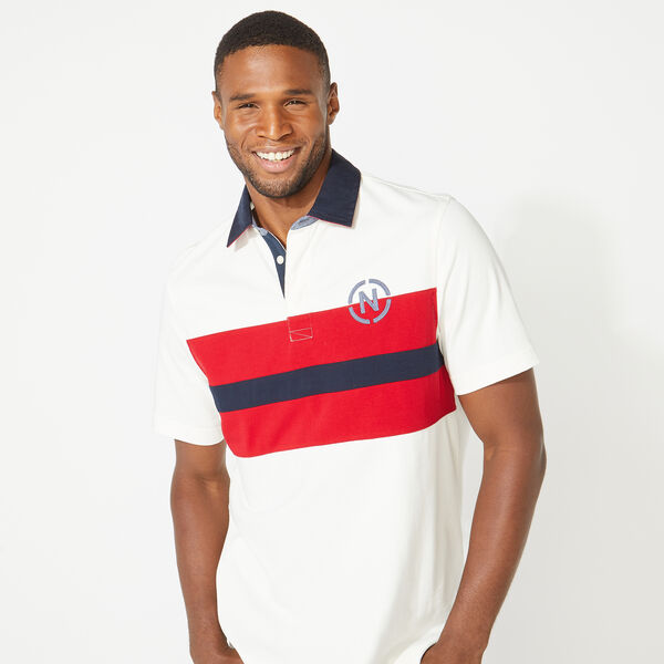 NAUTICA JEANS CO. CHEST STRIPE POLO - Sail White
