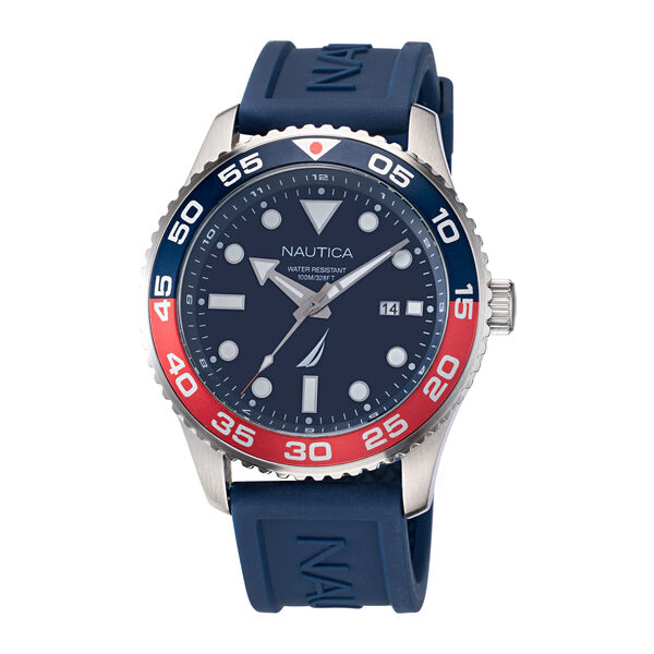 PACIFIC BEACH STAINLESS STEEL AND SILICONE WATCH - Multi