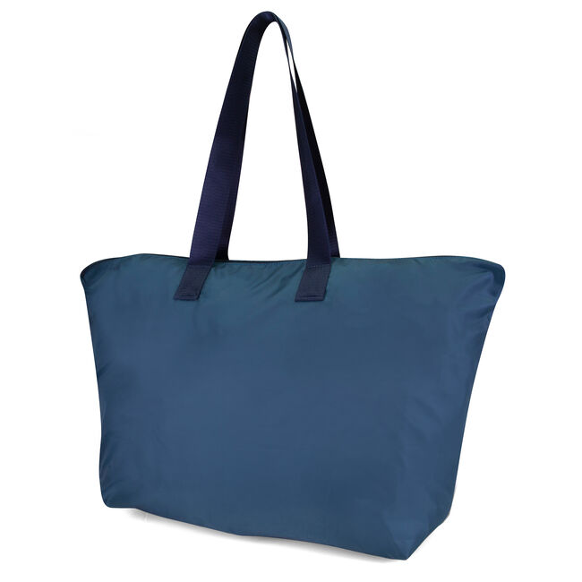New Tack Logo Packable Large Tote,True Navy,large