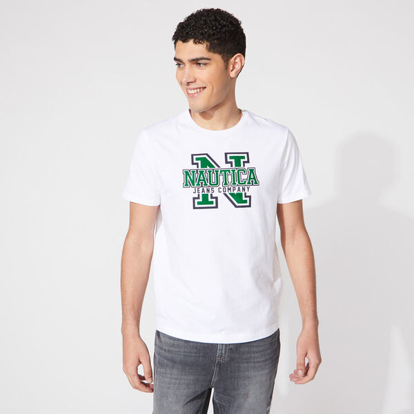 NAUTICA JEANS CO. LOGO GRAPHIC TEE - Bright White