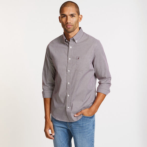 Wrinkle-Resistant Slim Fit Shirt in Gigham - Nantucket Red