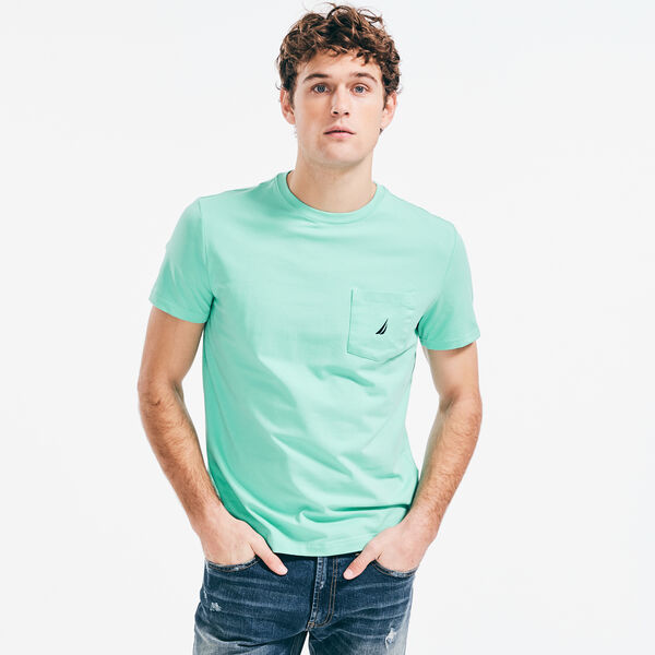 CREWNECK POCKET T-SHIRT - Mint Spring