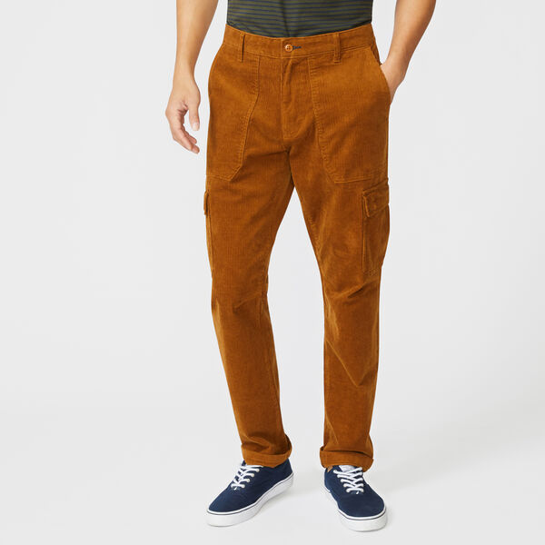 CLASSIC FIT CORDUROY CARGO PANT - Camel Heather