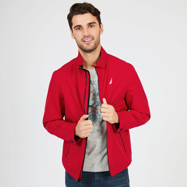 Water Resistant Active Stretch Jacket,Nautica Red,large