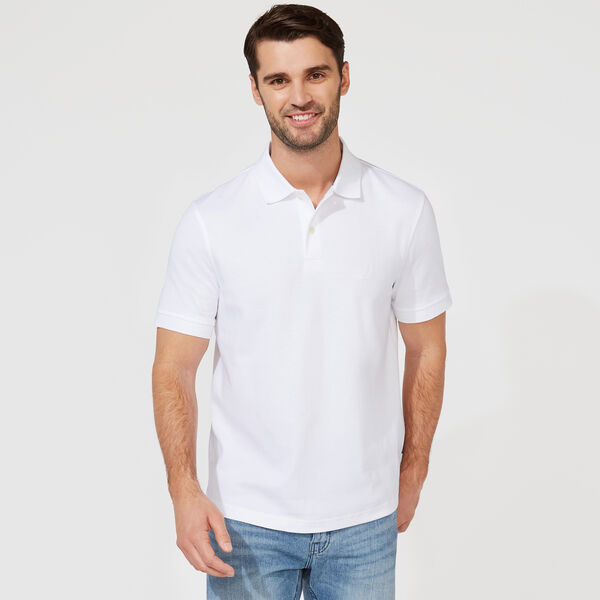 CLASSIC FIT PREMIUM COTTON POLO - Bright White