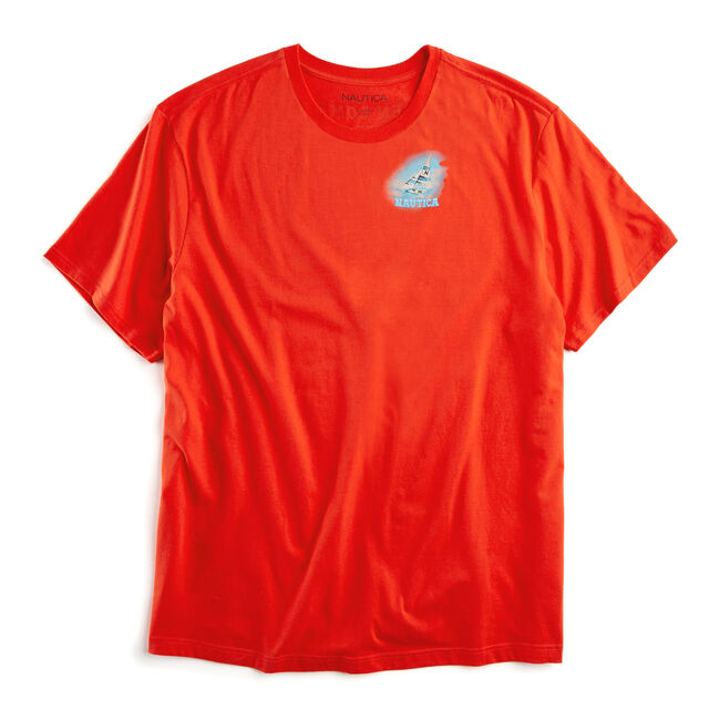 Big & Tall Island Hops Short Sleeve T-Shirt,Firey Red,large