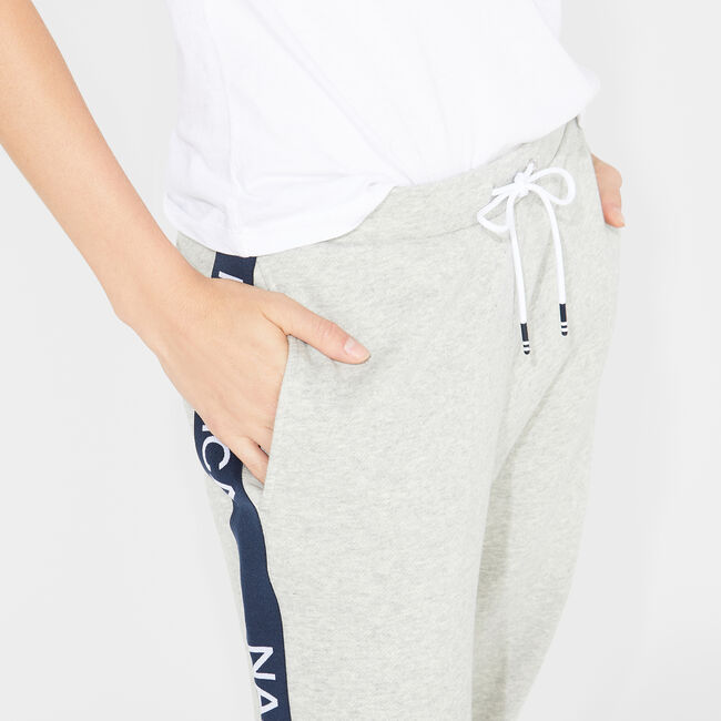 LOGO-TAPE FLEECE JOGGER,Grey Heather,large