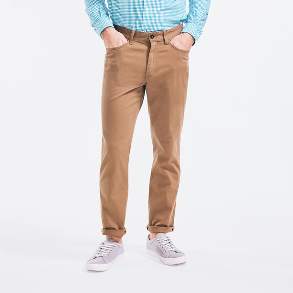 Straight Leg 5-Pocket Pant - Oyster Brown