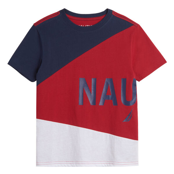 BOYS' COLORBLOCK LOGO GRAPHIC T-SHIRT (8-20) - Dark Acacia