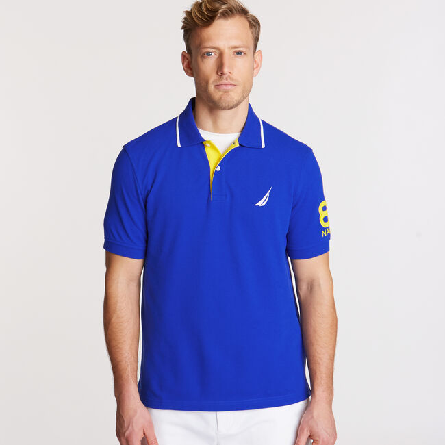 Logo Classic Fit Polo,Bright Cobalt,large