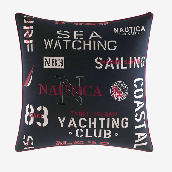 Heritage Square Pillow - Navy