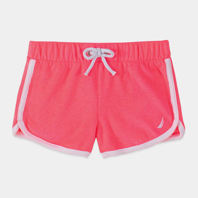 TODDLER GIRLS' TERRY DOLPHIN SHORTS (2T-4T),Lt Pink,large