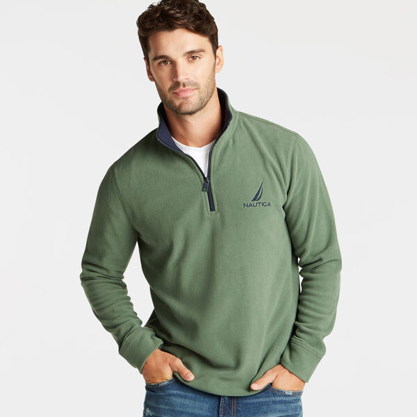 QUARTER ZIP NAUTEX FLEECE PULLOVER - Pineforest