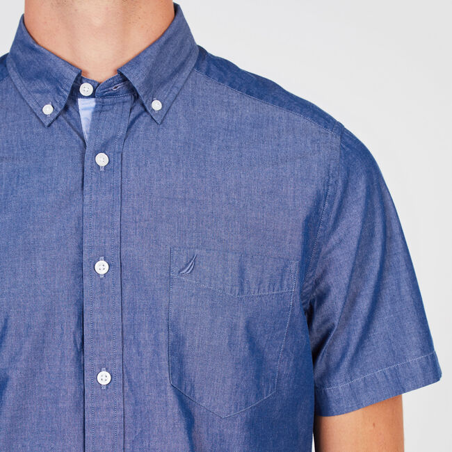Solid Classic Fit Button Down,J Navy,large