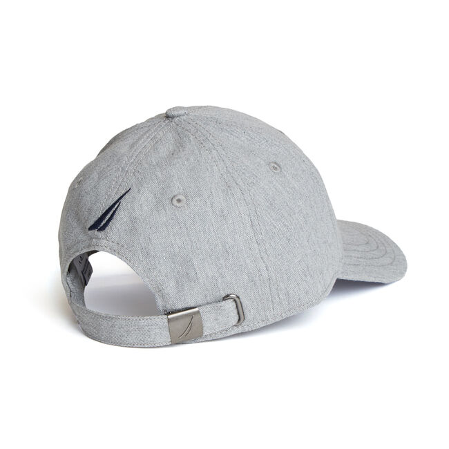 Colorblock Logo Baseball Cap,Grey Heather,large