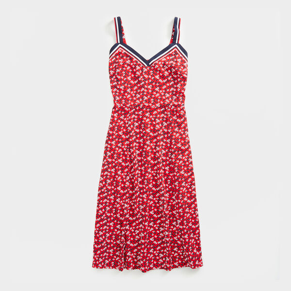 NAUTICA JEANS CO. FLORAL PRINT TANK DRESS - Tomales Red