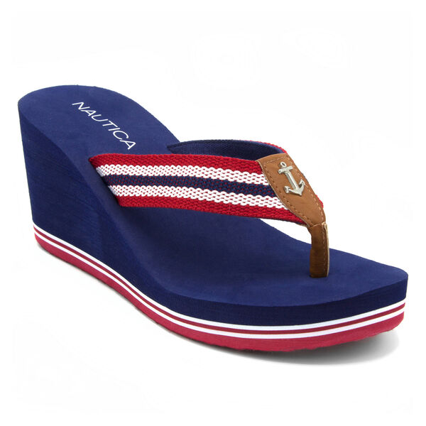 Aster Wedge Sandals - Nautica Red