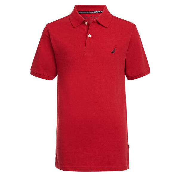 BOYS' CLASSIC DECK POLO (8-20) - Melonberry