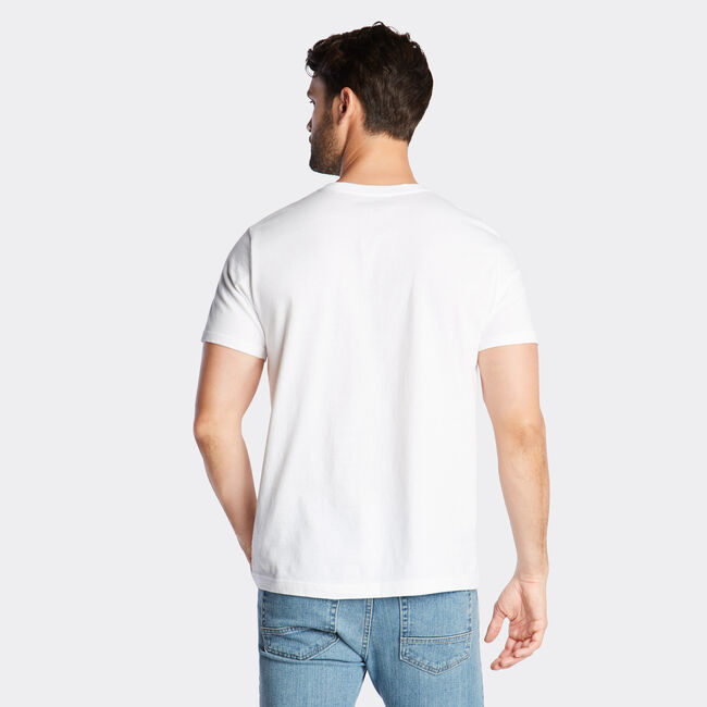 JERSEY T-SHIRT IN LOGO GRAPHIC,Bright White,large