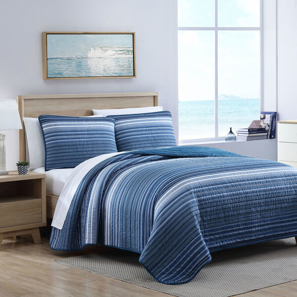 COVESIDE BLUE KING QUILT-SHAM SET - Multi