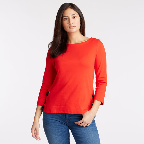 Boatneck Top - Firey Red