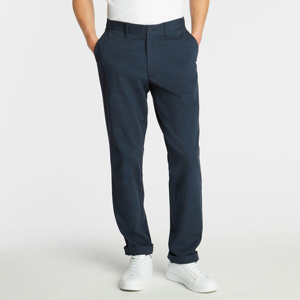CLASSIC FIT FLAT FRONT PANTS - True Navy