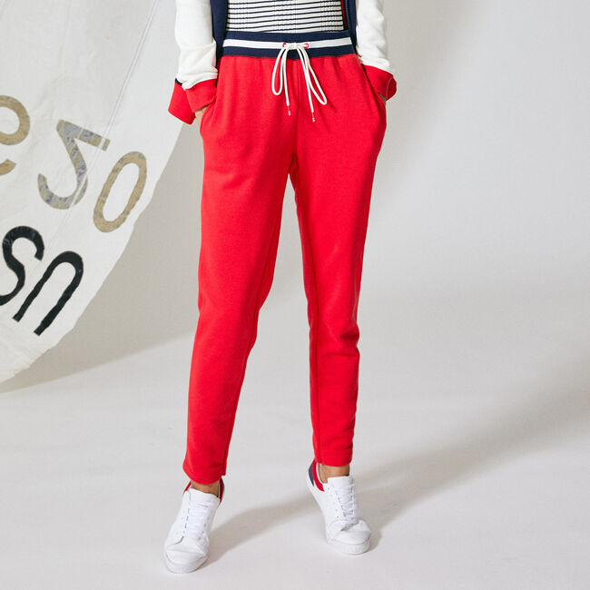 STRIPE WAISTBAND KNIT JOGGER,Tomales Red,large