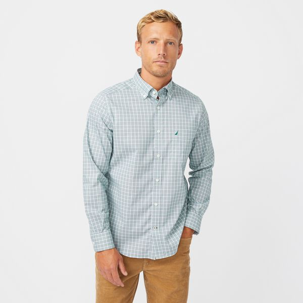 WRINKLE-RESISTANT PLAID SHIRT - Spruce