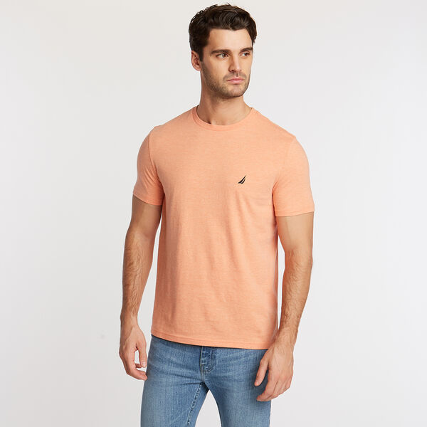 Crewneck T-Shirt - Coral Reef Heather