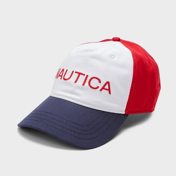 COLORBLOCK NAUTICA LOGO CAP - Flare Red