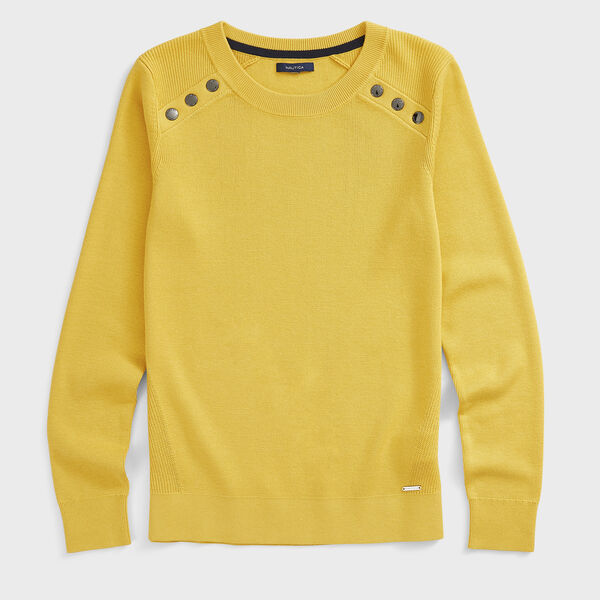 SUSTAINABLY CRAFTED RIB-KNIT SWEATER - Mustard Field