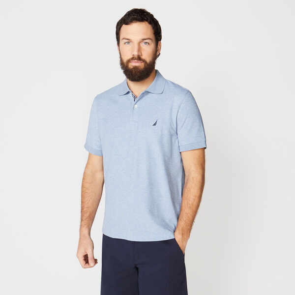 CLASSIC FIT PERFORMANCE DECK POLO - Anchor Blue Heather