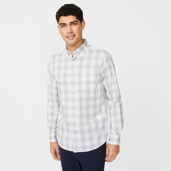 NAVTECH PLAID SHIRT - Bright White