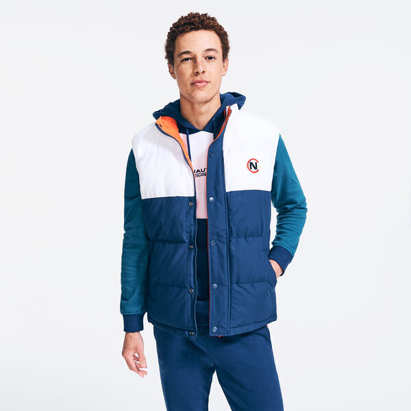 COMPETITION COLORBLOCK PUFFER VEST - Navy