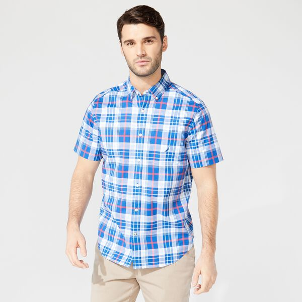 PLAID SHORT SLEEVE SHIRT - Windsurf Blue