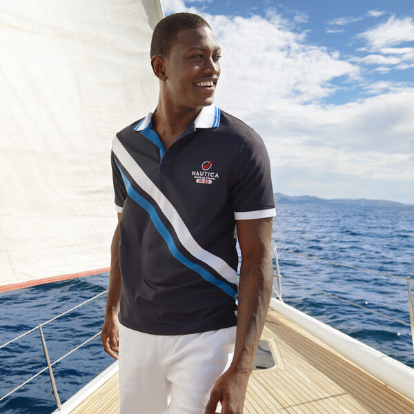 CLASSIC FIT NAVTECH SASH POLO - Pure Dark Pacific Wash