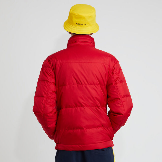 The Lil Yachty Collection by Nautica Quilted Ripstop Jacket,Nautica Red,large