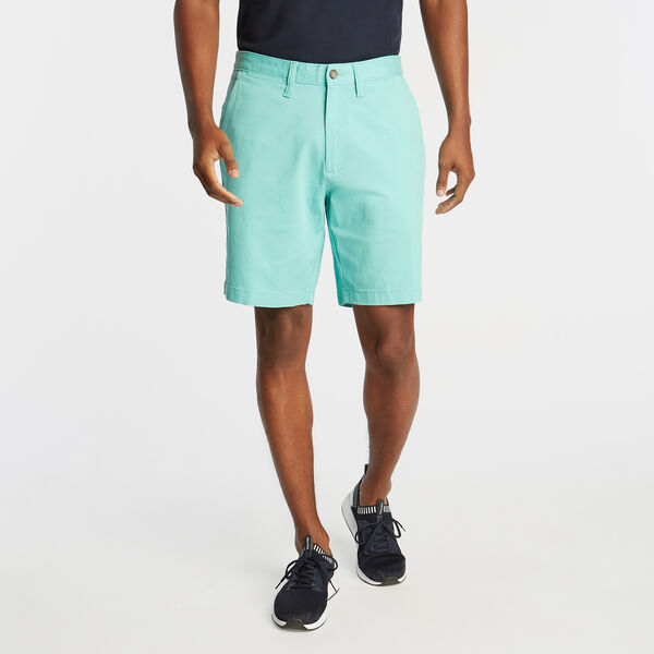 "8.5"" CLASSIC FIT DECK SHORTS WITH STRETCH - Pool Side Aqua"