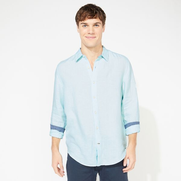 CLASSIC FIT LINEN SHIRT - Aquadream