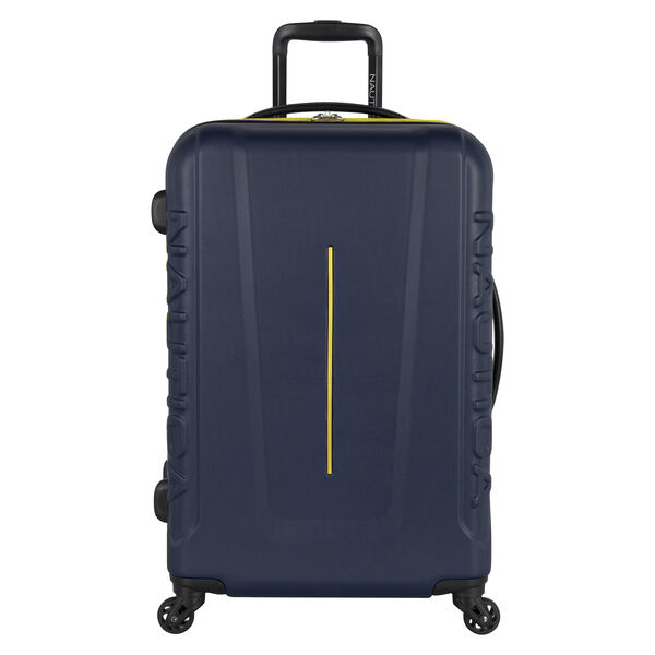 "Vernon Bay 24"" Hardside Spinner Luggage in Navy/Yellow - Pure Dark Pacific Wash"