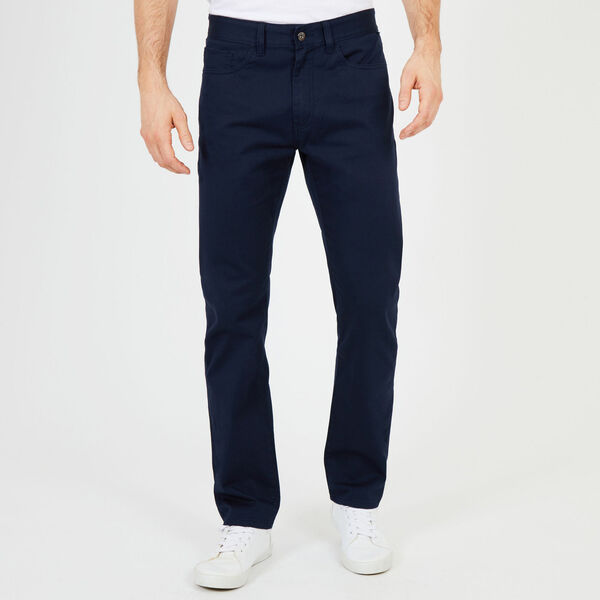 Straight Leg 5-Pocket Pant - Navy
