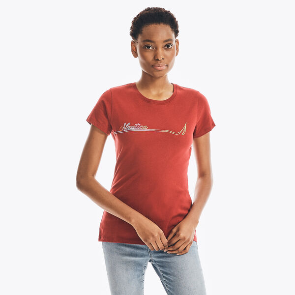 SUSTAINABLY CRAFTED LOGO GRAPHIC T-SHIRT - Classic Red