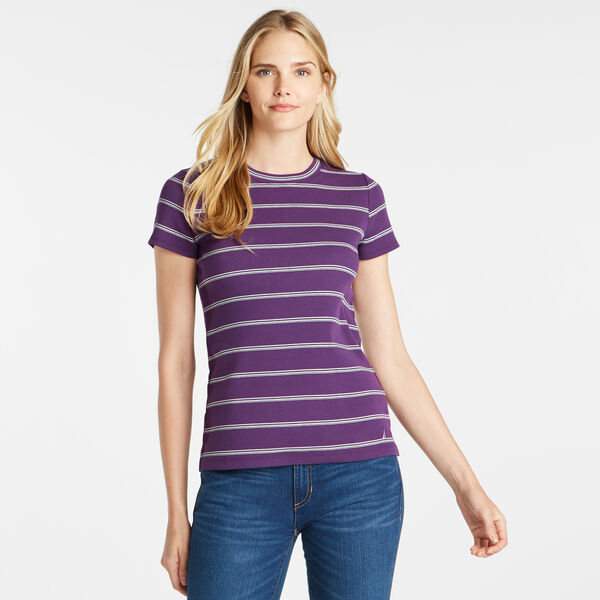 STRIPED RIBBED TOP - Majestic Purple