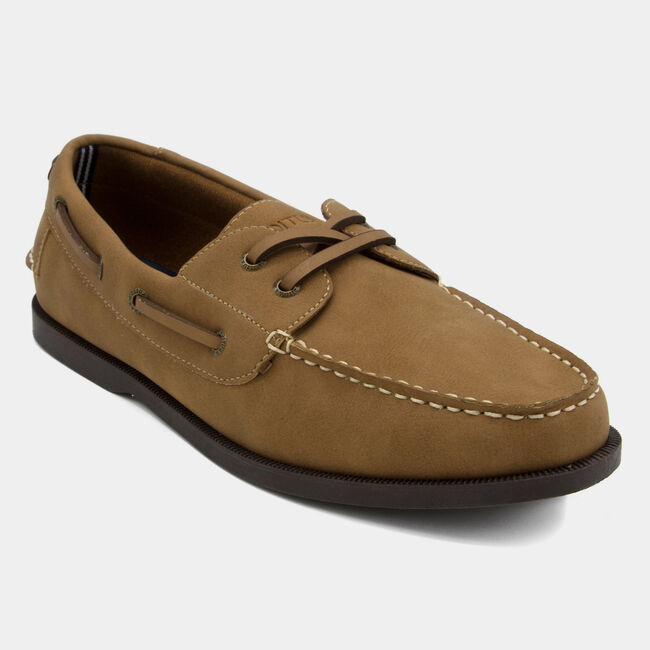 Nueltin Suede Boat Shoes,Brown Stone,large