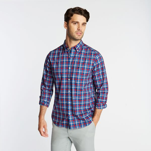 CLASSIC FIT WRINKLE-RESISTANT PLAID SHIRT - Nautica Red